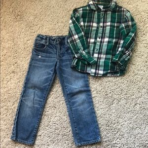 Other - Boys jeans and button up shirt set